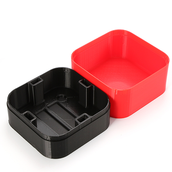 Mini 3D Printed Box For 65mm Tiny Whoop - <b>Black/Red</b> - SNHE