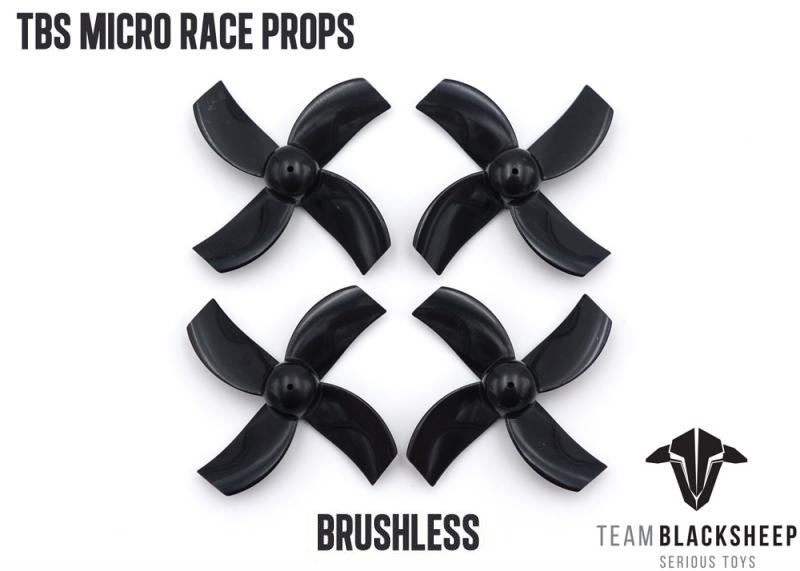 TBS MICRO RACE PROPS <b>(BLACK) (1MM HUB)</b> - SNHE