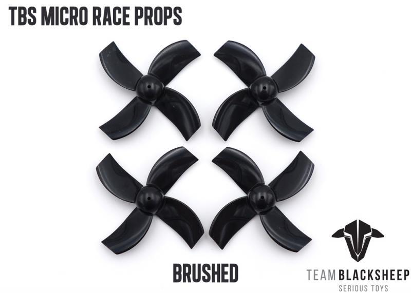 TBS MICRO RACE PROPS <b>(BLACK) (0.75MM HUB)</b> - SNHE