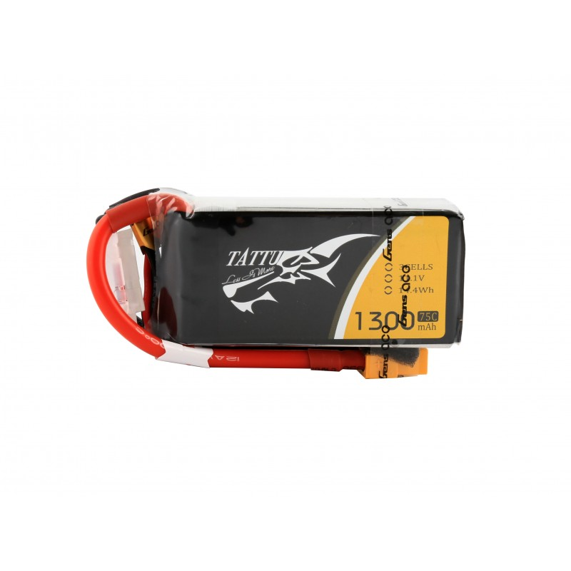 Tattu 1300mAh 11.1v 3S 75C Lipo Battery Pack with XT60 Plug