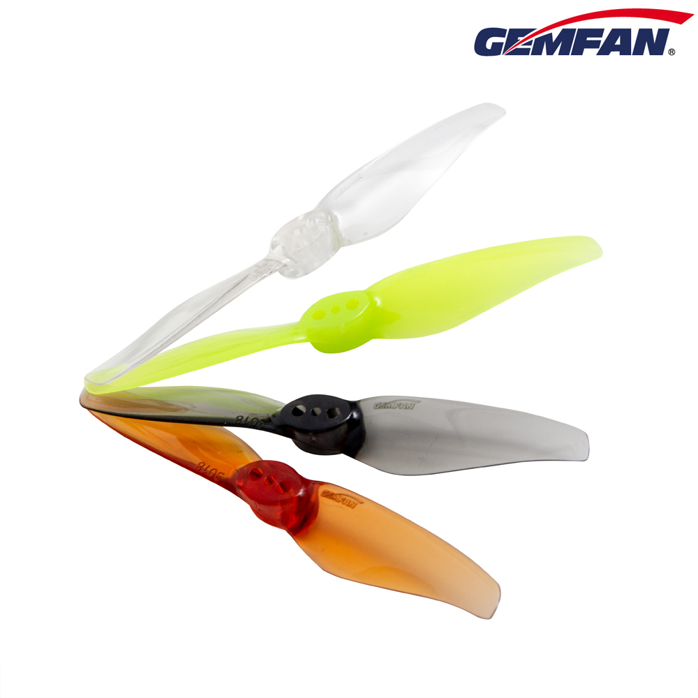 Gemfan <b>Hurricane 3018 (2mm Shaft)</b> 2-Blade Props - <b>Clear</b>