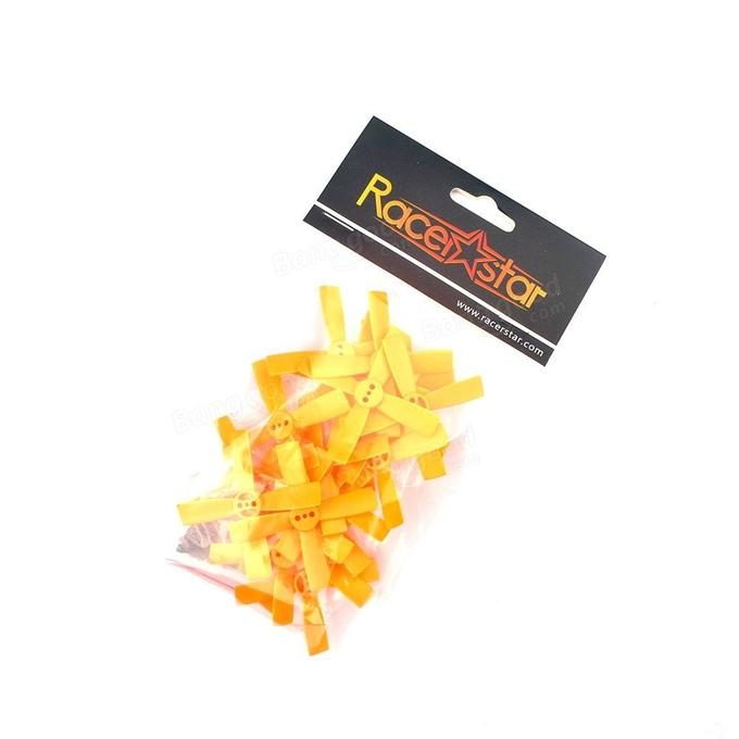 10 Pairs Racerstar 2035 50mm 4 Blade ABS Propeller 1.5mm Mounting Hole For 80-110 FPV Racing Frame - <b>ORANGE</b> - SNHE
