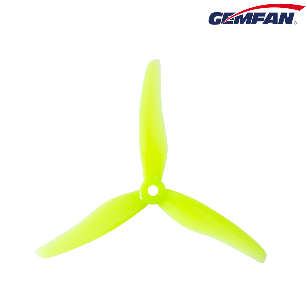 Gemfan <b>Hurricane 51433</b> Durable 3 Blade Propeller - <b>Yellow</b>