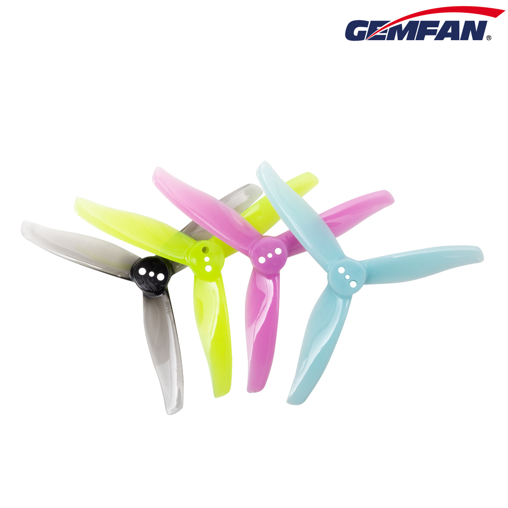 Gemfan <b>Hurricane 3016 (1.5mm Shaft)</b> 3-Blade Props - <b>Blue</b>