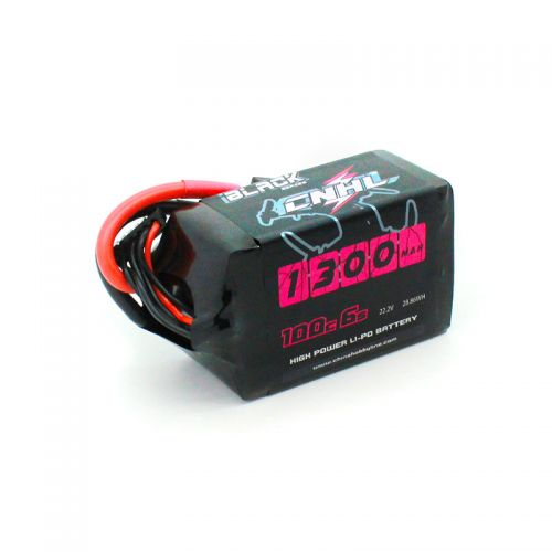 CNHL <b>BLACK SERIES 1300MAH 22.2V</b> 6S 100C LIPO BATTERY