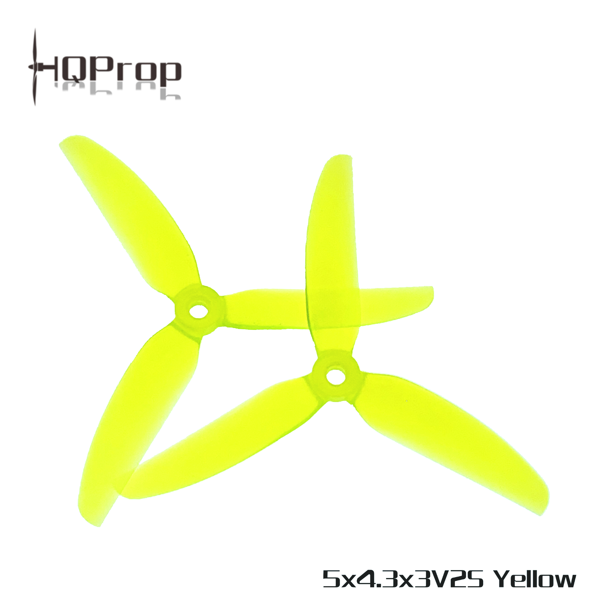 "HQ Durable PC Prop <b>5X4.3X3V2S:</b> <font color=""yellow""><b>Yellow</b></font> (2CW+2CCW)"
