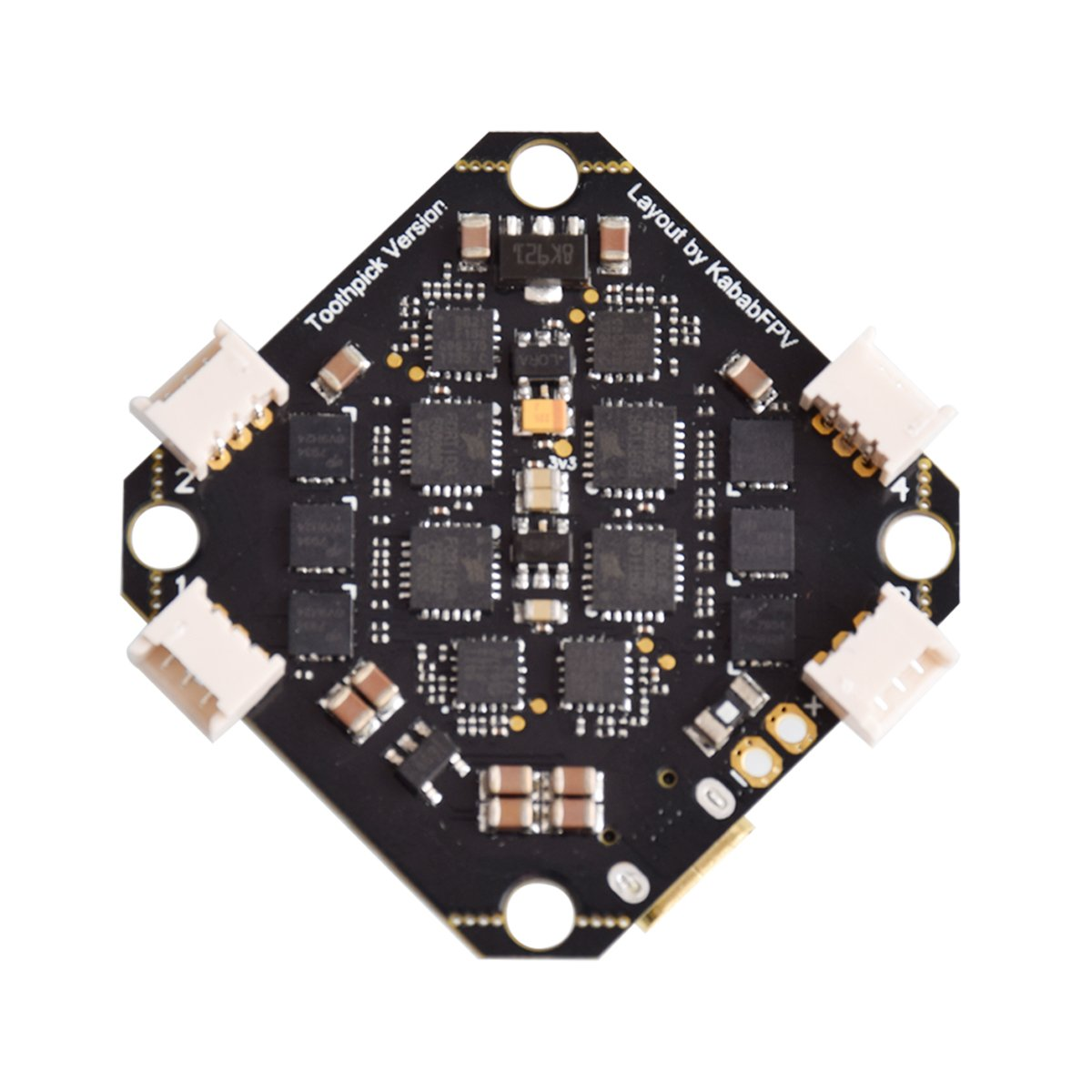 BetaFPV Toothpick F4 2-4S AIO Brushless Flight Controller 12A(BLHeli_S) - Pins PreSoldered