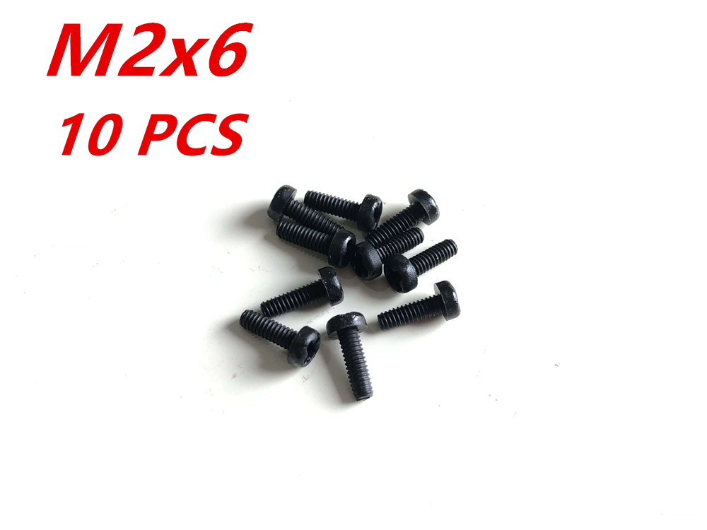 M2x6 Nylon Screw 10pcs