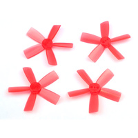 "DYS ELF Prop 1735 5-blades (2CW, 2CCW) - <font color=""red""><b>Red</b></font>"