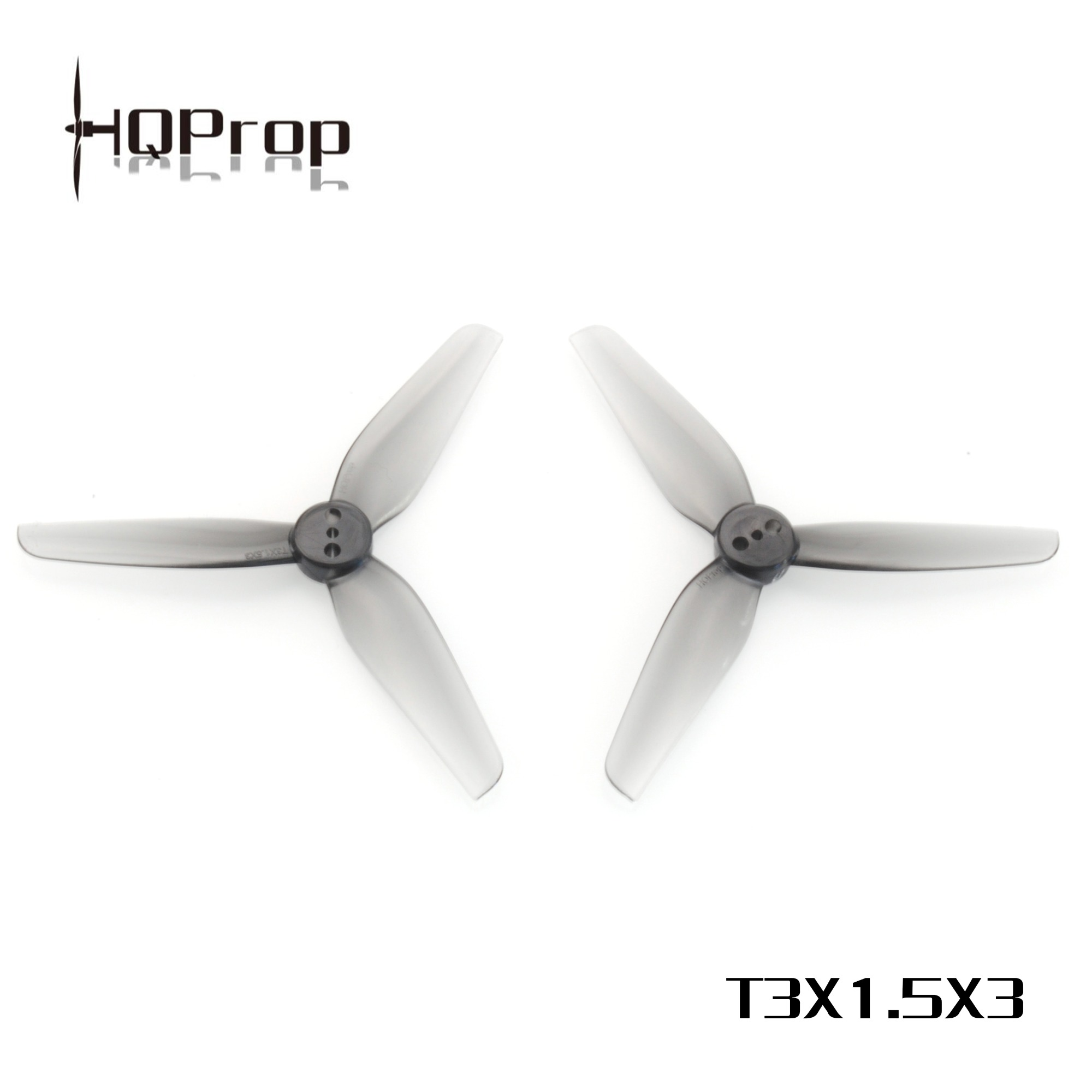 HQ Durable PROP <b>T3X1.5x3:</b> <b>Grey</b> (2CW+2CCW) - T-Mount