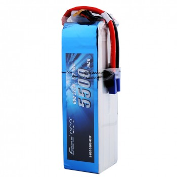 Gens ace 5500mAh 22.2V 60C 6S1P Lipo Battery Pack with EC5 Plug
