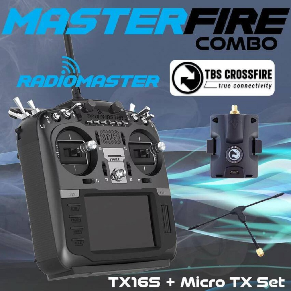 "Radiomaster TX16S (w/Hall Sensor) 16ch 2.4ghz Multi-protocol OpenTX Radio <font color=""red""><b>Master Fire Combo (PREORDER)</b></font>"
