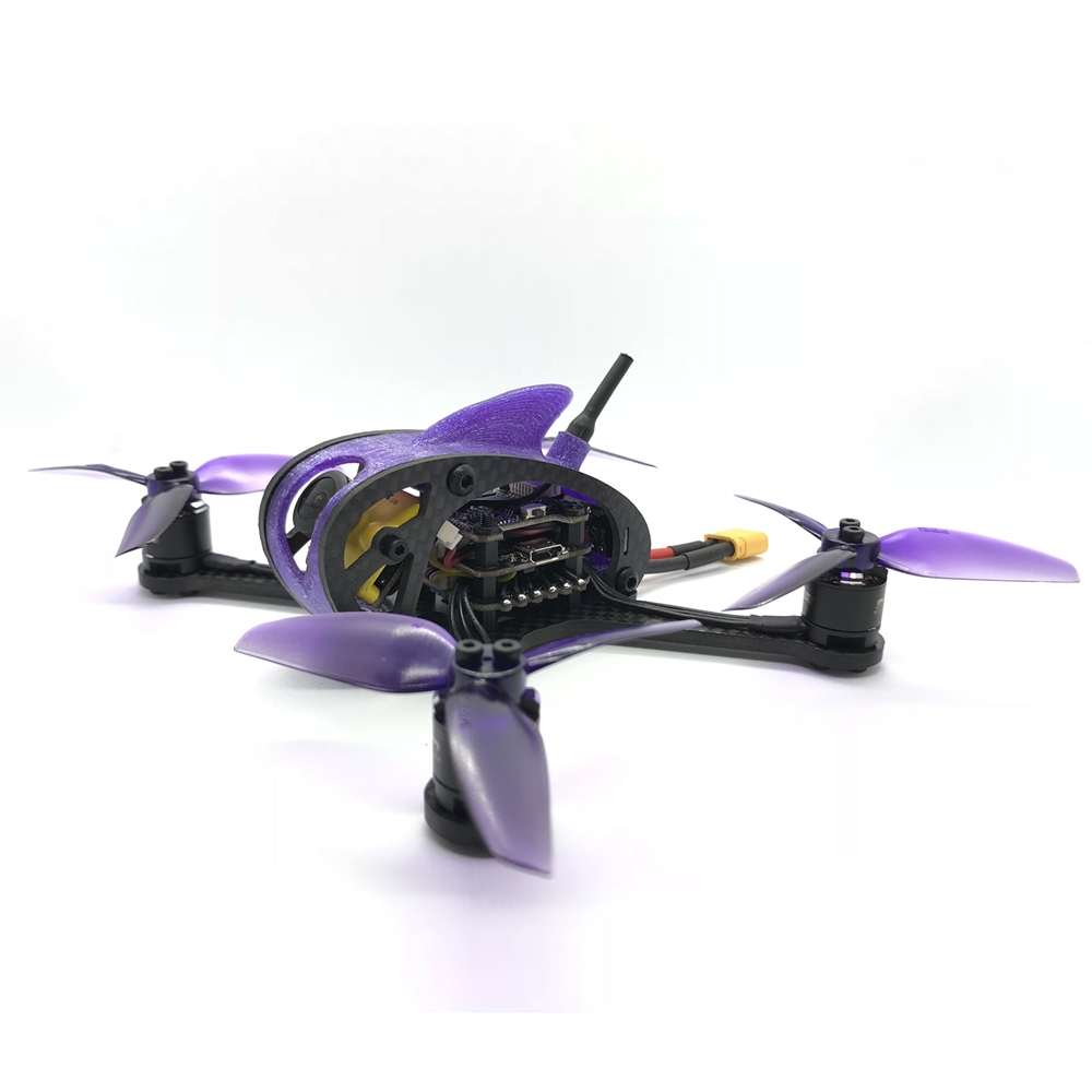 "Full Speed RC Leader <b>3SE(w/Canopy)</b> FPV Racing Drone - <b>BLACK</b> <b>BNF DSM</b> <font color=""red""><b>w/ C2 Motors</b></font>"