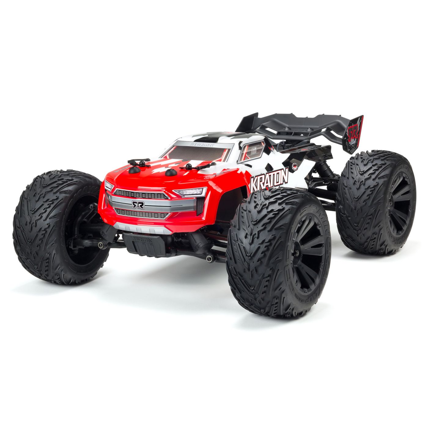 ARRMA 1/10 KRATON 4x4 4S BLX Brushless Monster Truck with Spektrum RTR, Red