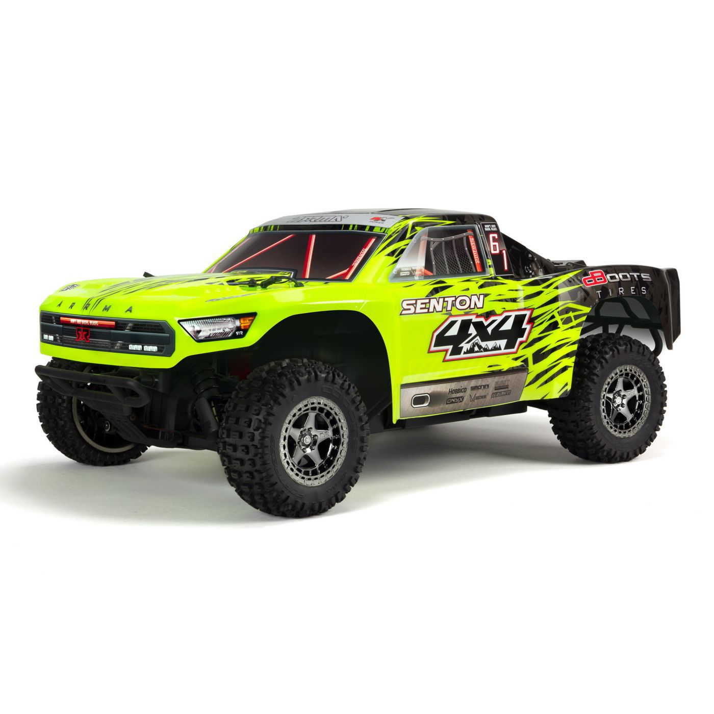 ARRMA 1/10 SENTON 3S BLX 4WD Brushless Short Course Truck with Spektrum RTR, Green/Black
