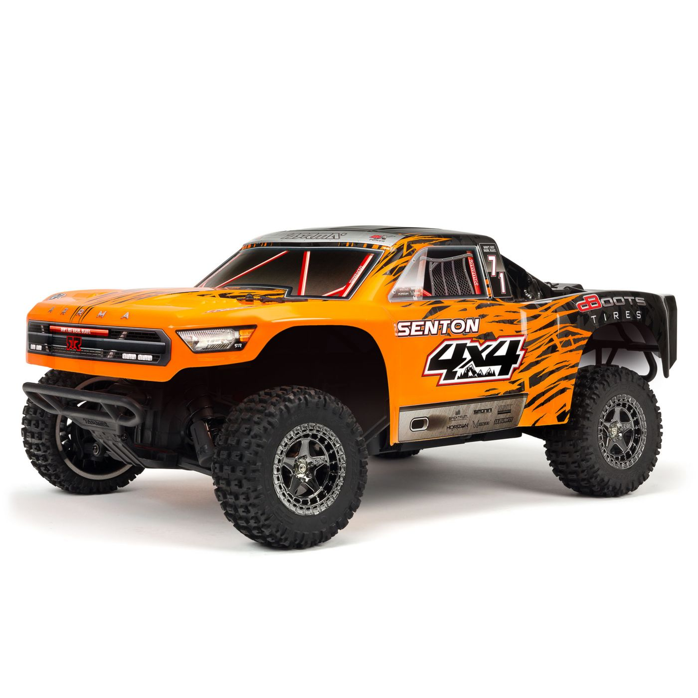 ARRMA 1/10 SENTON 3S BLX 4WD Brushless Short Course Truck with Spektrum RTR, Orange/Black
