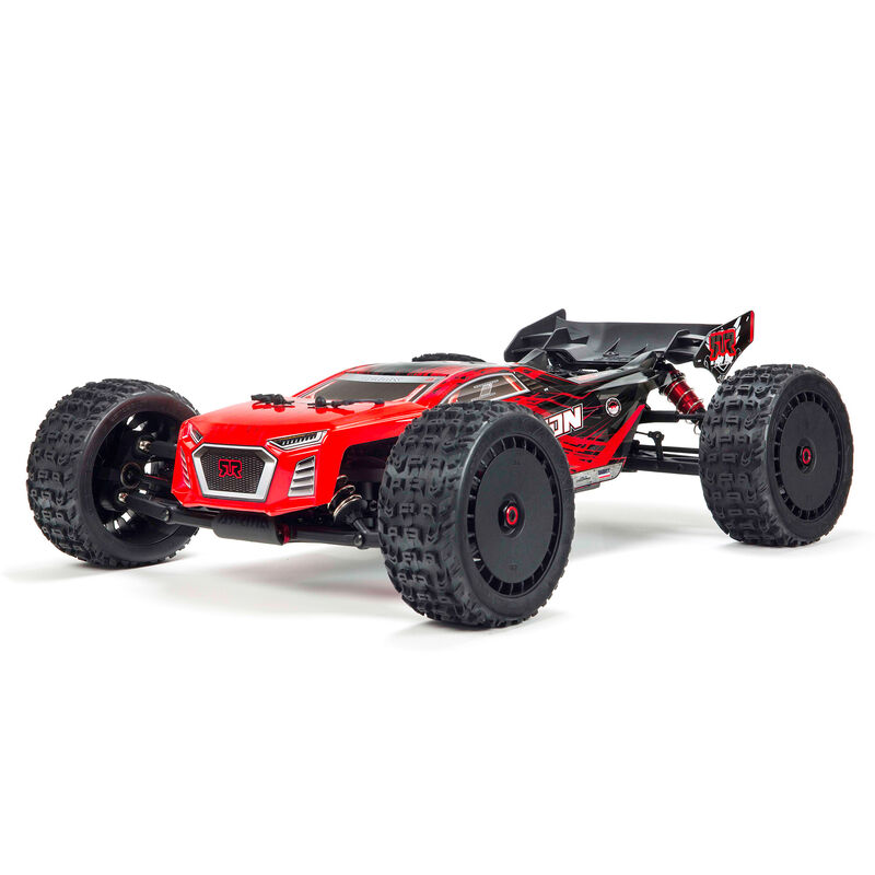 ARRMA 1/8 TALION 6S BLX 4WD Brushless Sport Performance Truggy with Spektrum RTR, Red/Black