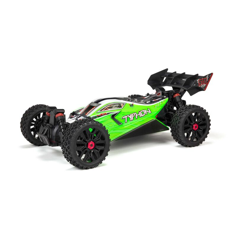 "ARRMA 1/8 TYPHON 4X4 V3 MEGA 550 Brushed Buggy RTR, Green - <font color=""red""><b>FREE SPEKTRUM S150 CHARGER</b></font>"