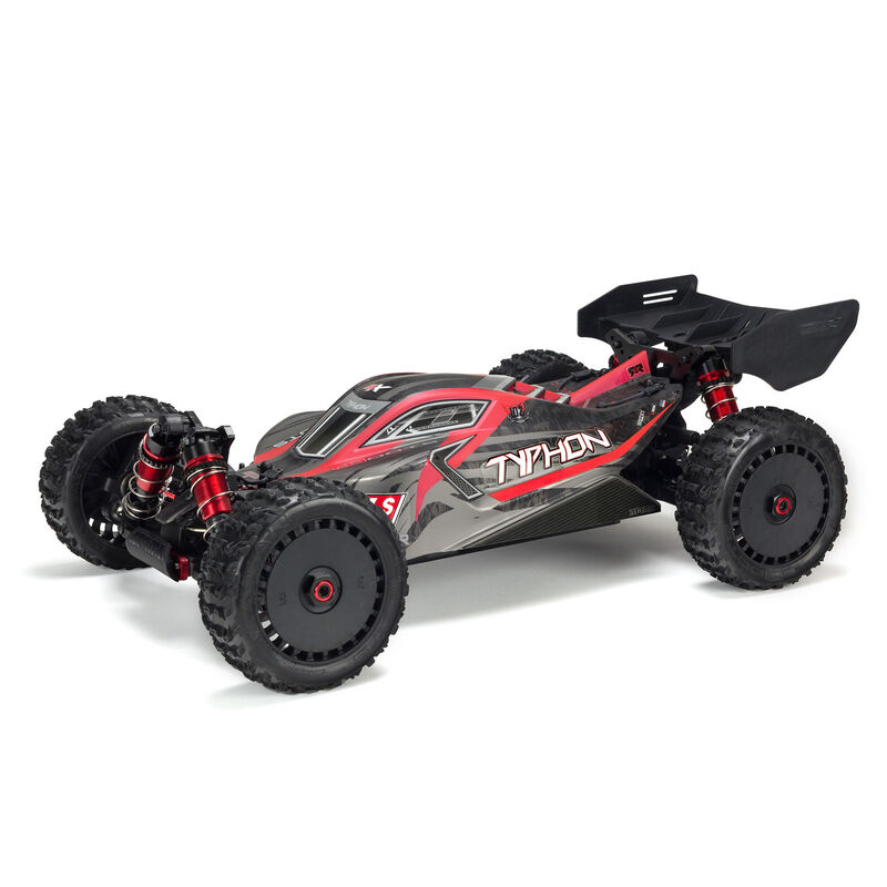 ARRMA 1/8 TYPHON 6S V5 4WD BLX Buggy with Spektrum Firma RTR, Black