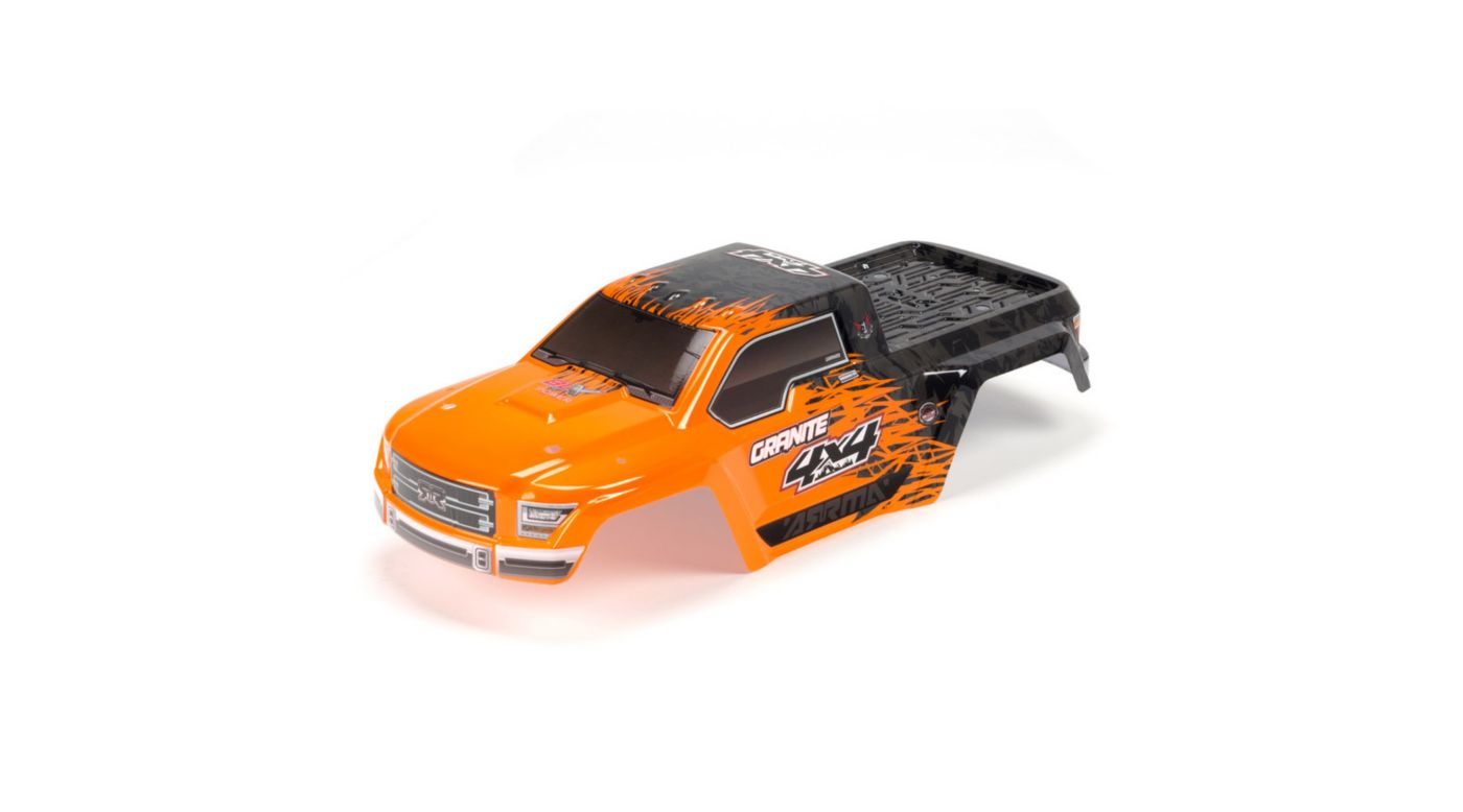 ARRMA Painted Body with Decal Trim, Orange: Granite 4x4 BLX