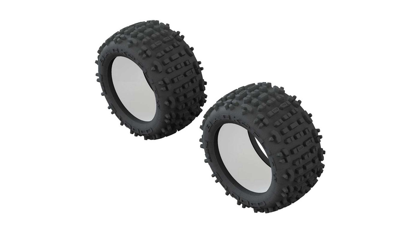 ARRMA 1/10 dBoots Backflip LP Front/Rear 3.8 Tire & Inserts (2) AR520049