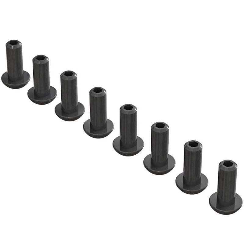 ARRMA Double Socket Button Head Screw 4x10mm (8) AR727410
