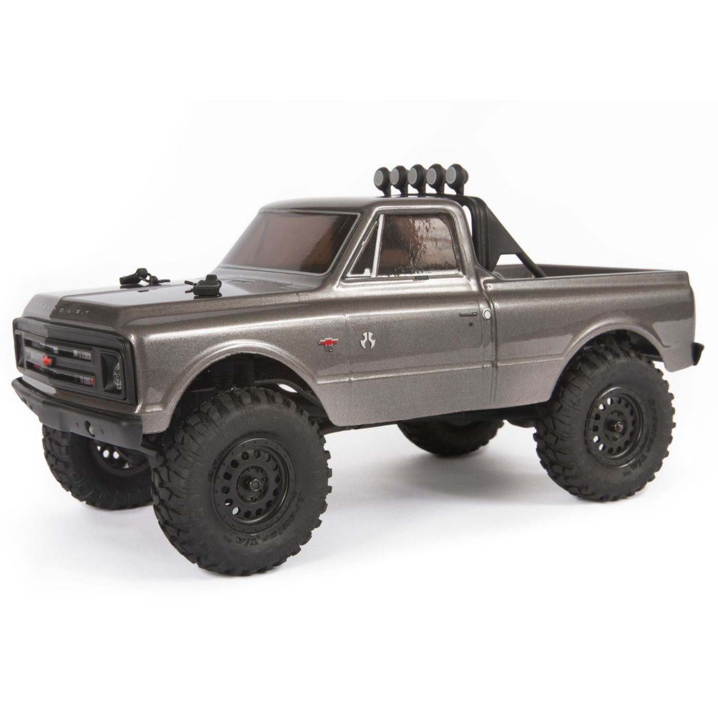 Axial Racing 1/24 SCX24 1967 Chevrolet C10 4WD Truck Brushed RTR, Silver
