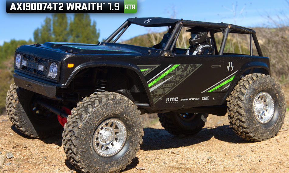 Axial Racing 1/10 Wraith 1.9 4WD Brushed RTR, Black - SNHE
