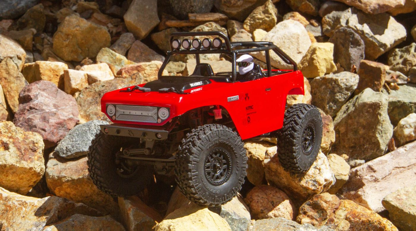 Axial Racing 1/24 SCX24 Deadbolt 4WD Rock Crawler Brushed RTR, Red - SNHE