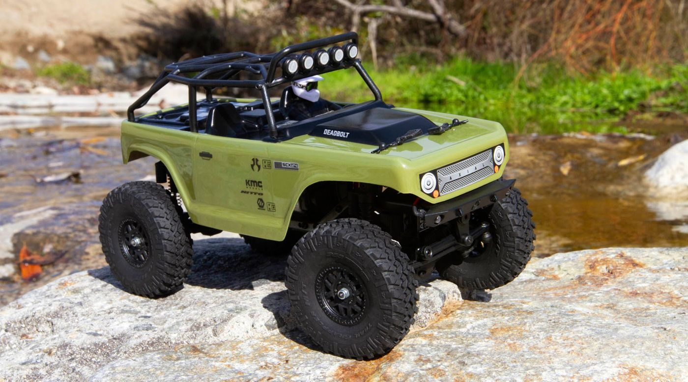 Axial Racing 1/24 SCX24 Deadbolt 4WD Rock Crawler Brushed RTR, Green