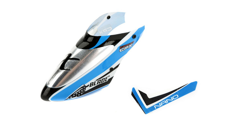 Blade Complete Blue Canopy with Vertical Fin: nCP X