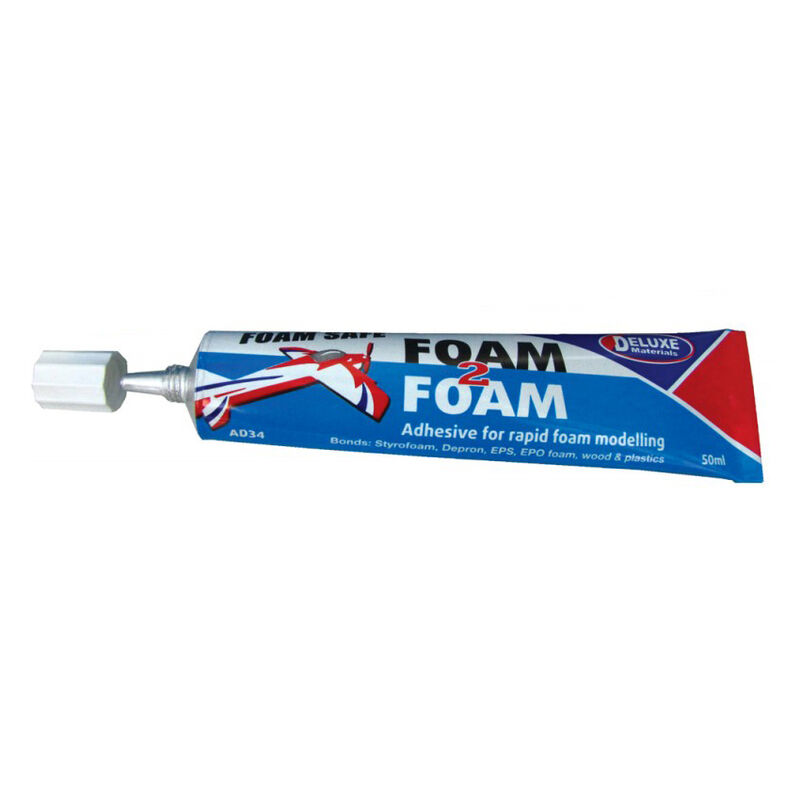 Deluxe Foam 2 Foam, Foam Safe Glue, 50ml: EPO, EPS, Wood