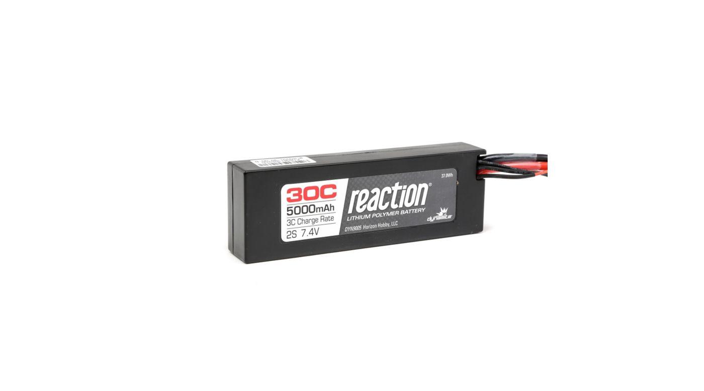 Dynamite Reaction 7.4V 5000mAh 2S 30C LiPo Hardcase: EC3 - SNHE