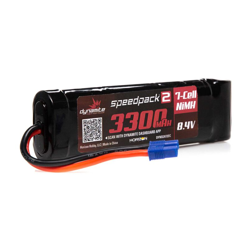 Dynamite 8.4V 3300mAh 7-Cell Speedpack2 Flat NiMH Battery: EC3