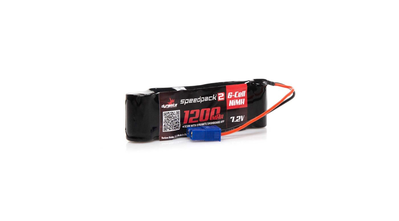 Dynamite Speedpack2 7.2V 1200mAh 6C NiMH, Long, MINI-S