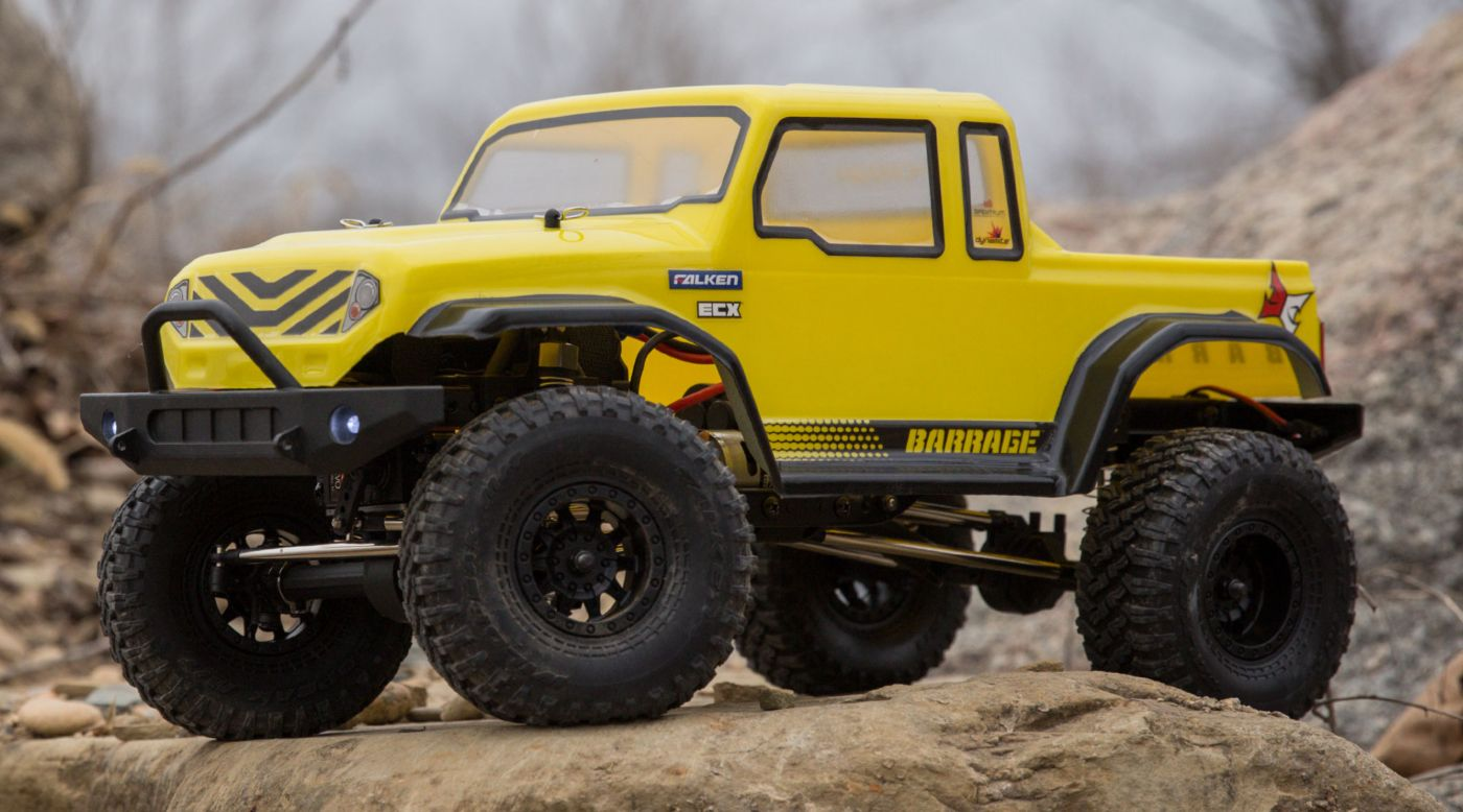 ECX 1/12 Barrage Gen2 1.55 4WD Scaler Brushed RTR: Yellow
