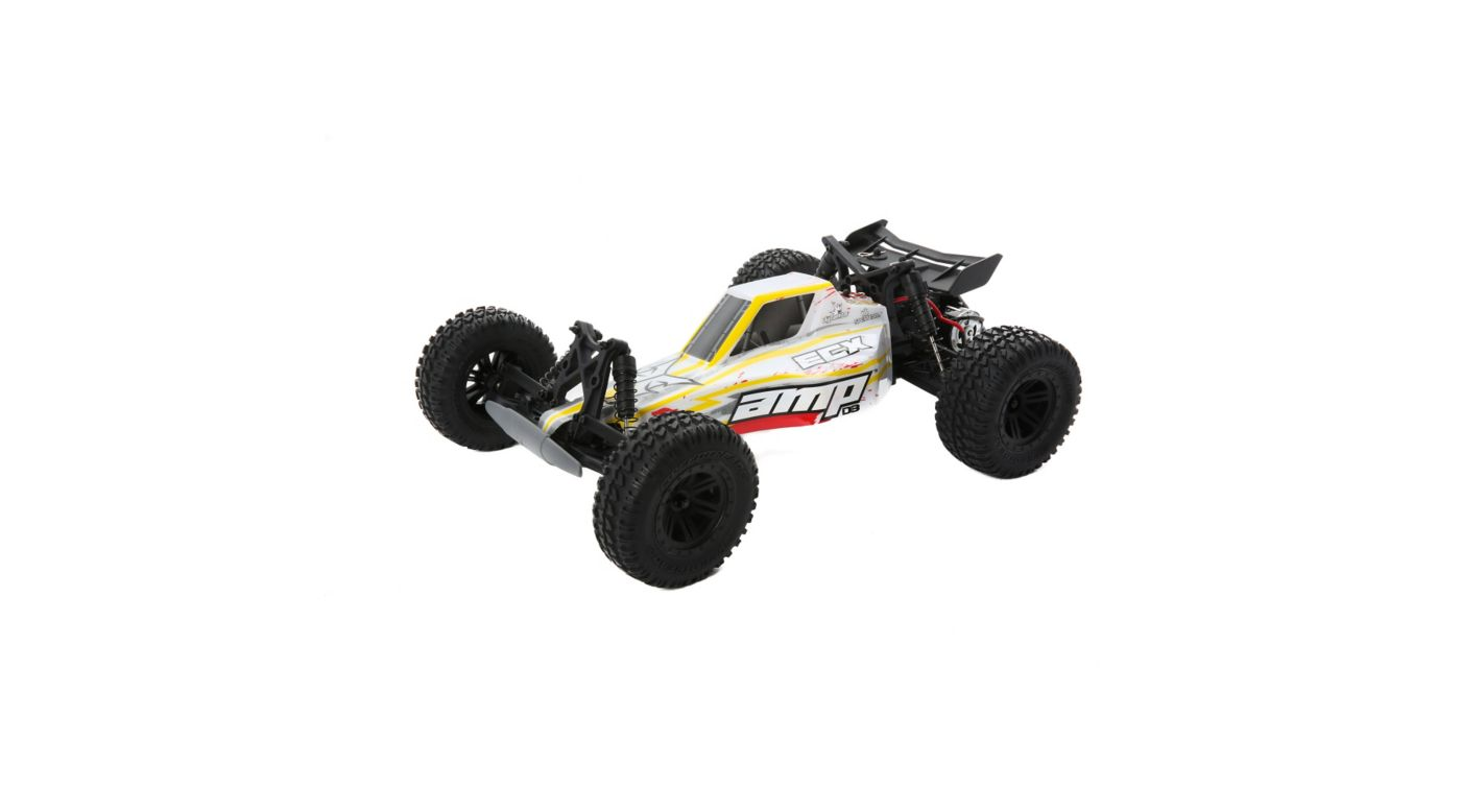 ECX 1/10 AMP DB 2WD Desert Buggy RTR, White/Red