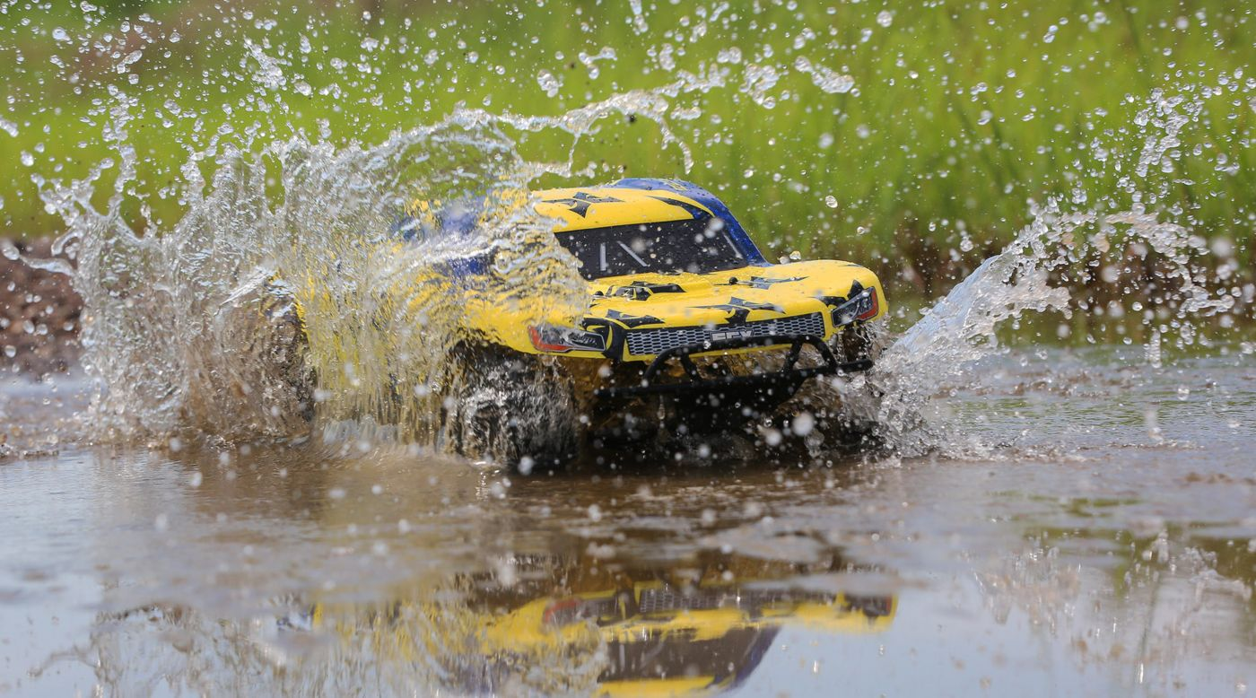 ECX 1/10 Torment 2WD SCT Brushed RTR, Yellow/Blue