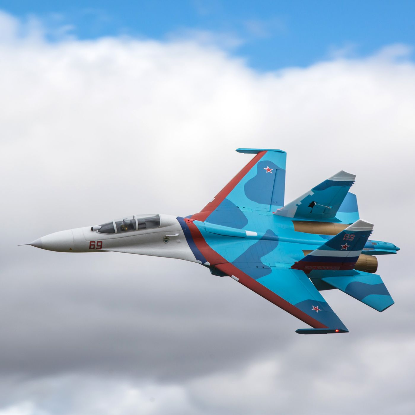 E-flite SU-30 Twin 70mm EDF BNF Basic with AS3X & SAFE Select