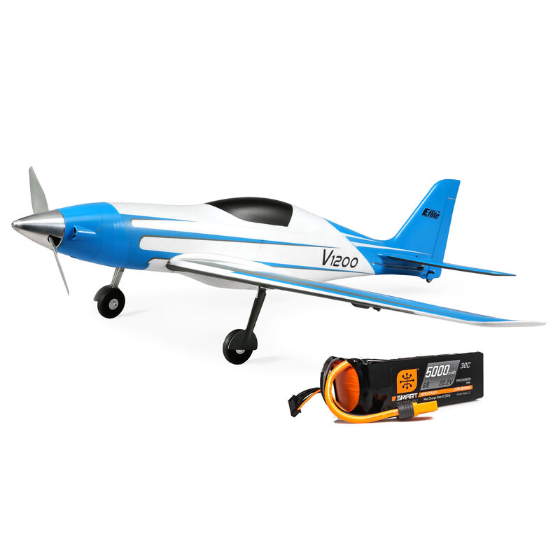 E-flite V1200 1.2m BNF Basic 6S 5000mAh 30C Smart Battery Combo