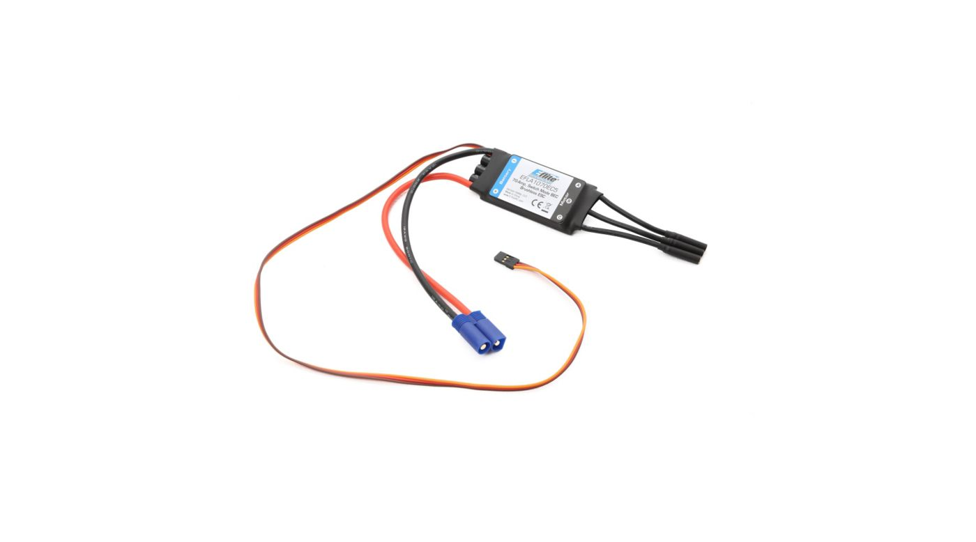 E-flite 70-Amp Switch Mode BEC Brushless ESC with EC5