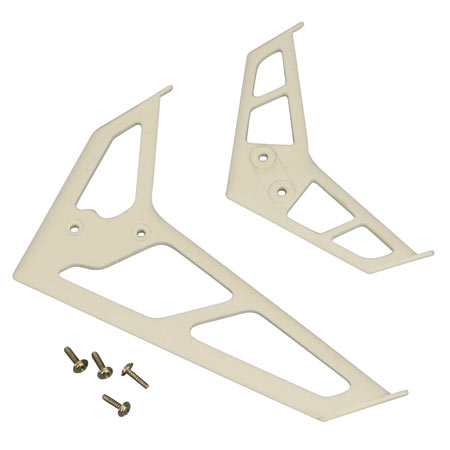Stabilizer/Fin Set, White: BCPP2