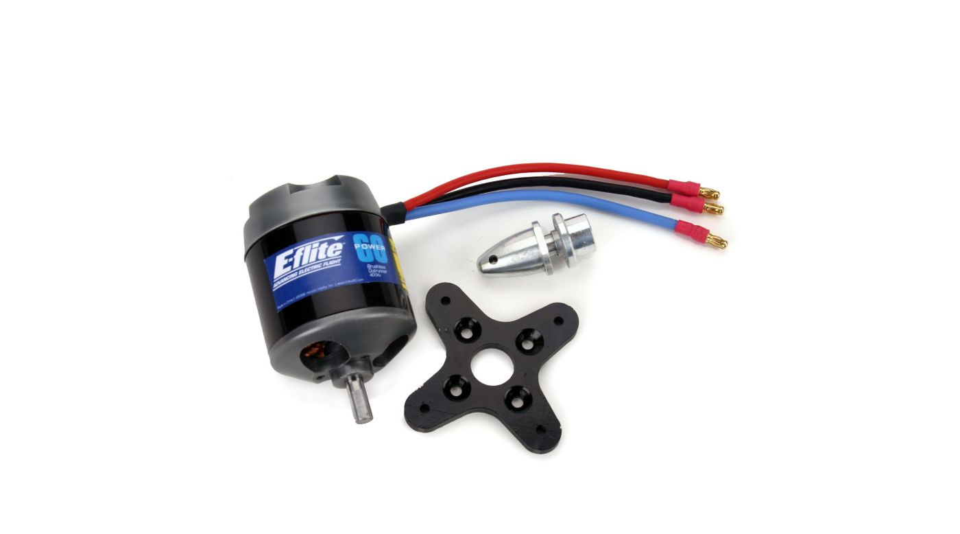E-flite Power 60 Brushless Outrunner Motor, 400Kv: 3.5mm Bullet