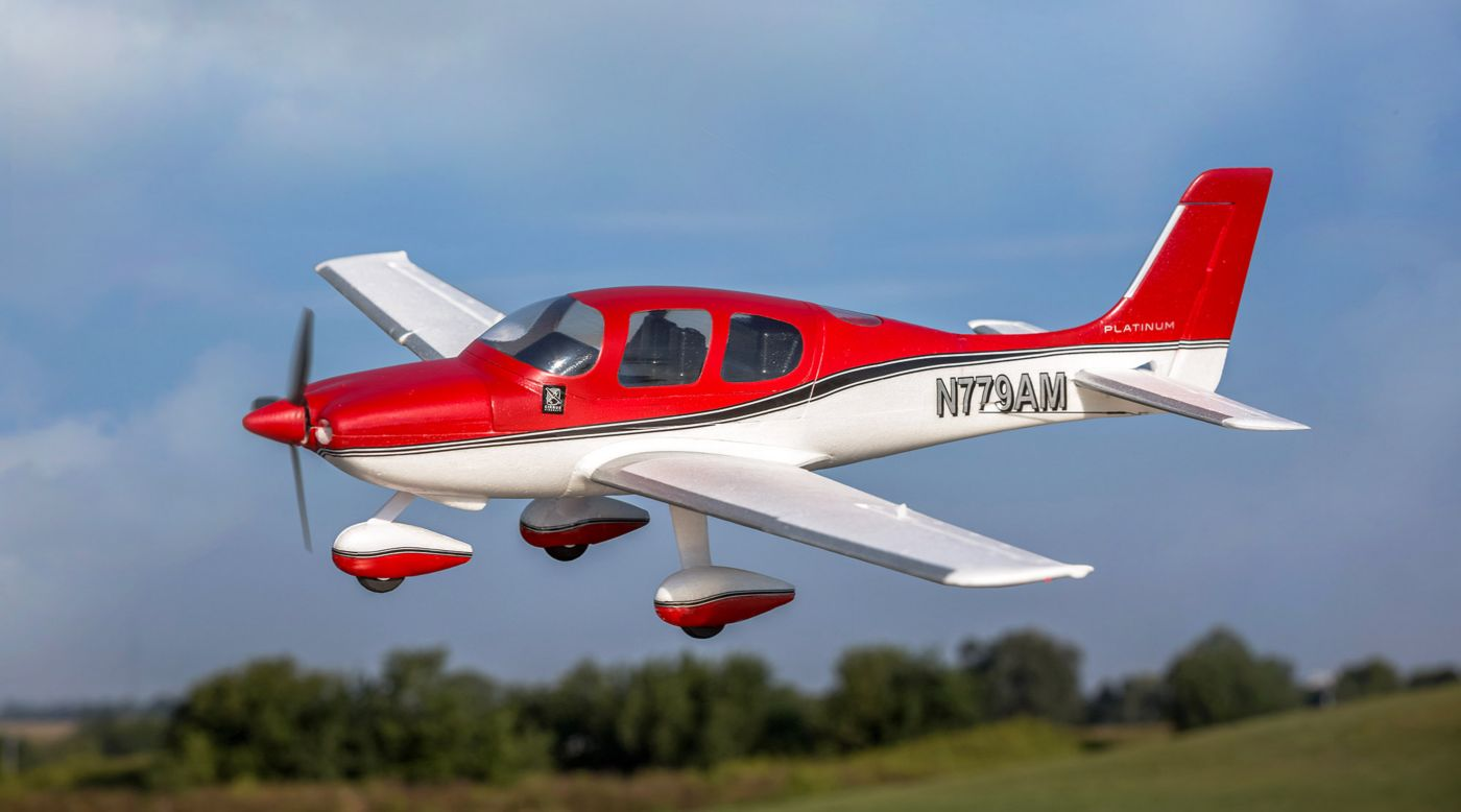 E-flite UMX Cirrus SR22T BNF Basic with AS3X and SAFE Select