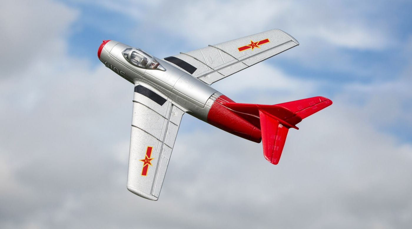 E-flite UMX MiG-15 28mm EDF Jet BNF Basic with AS3X and SAFE Select