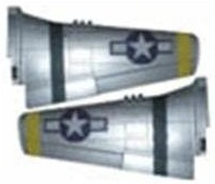 Big P51 Main Wing Set(YELLOW)