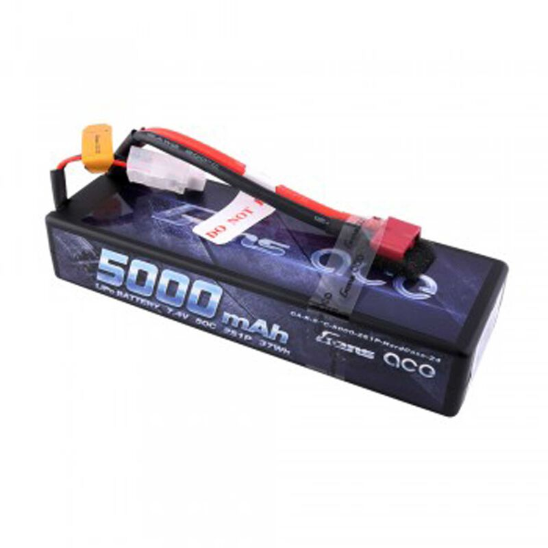 Gens ace 7.4V 5000 Capacity 2S Voltage 50C LiPo, Deans