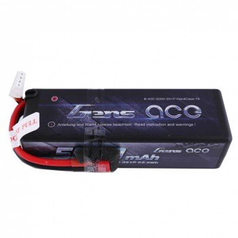 Gens Ace 11.1V 5000 Capacity 3S Voltage 50C LiPo, Deans