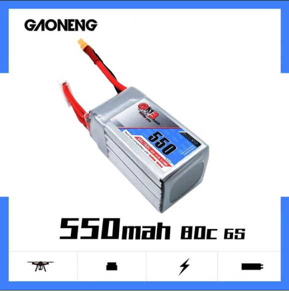 GNB 6S 550MAH 22.2V 80/160C LIPO BATTERY