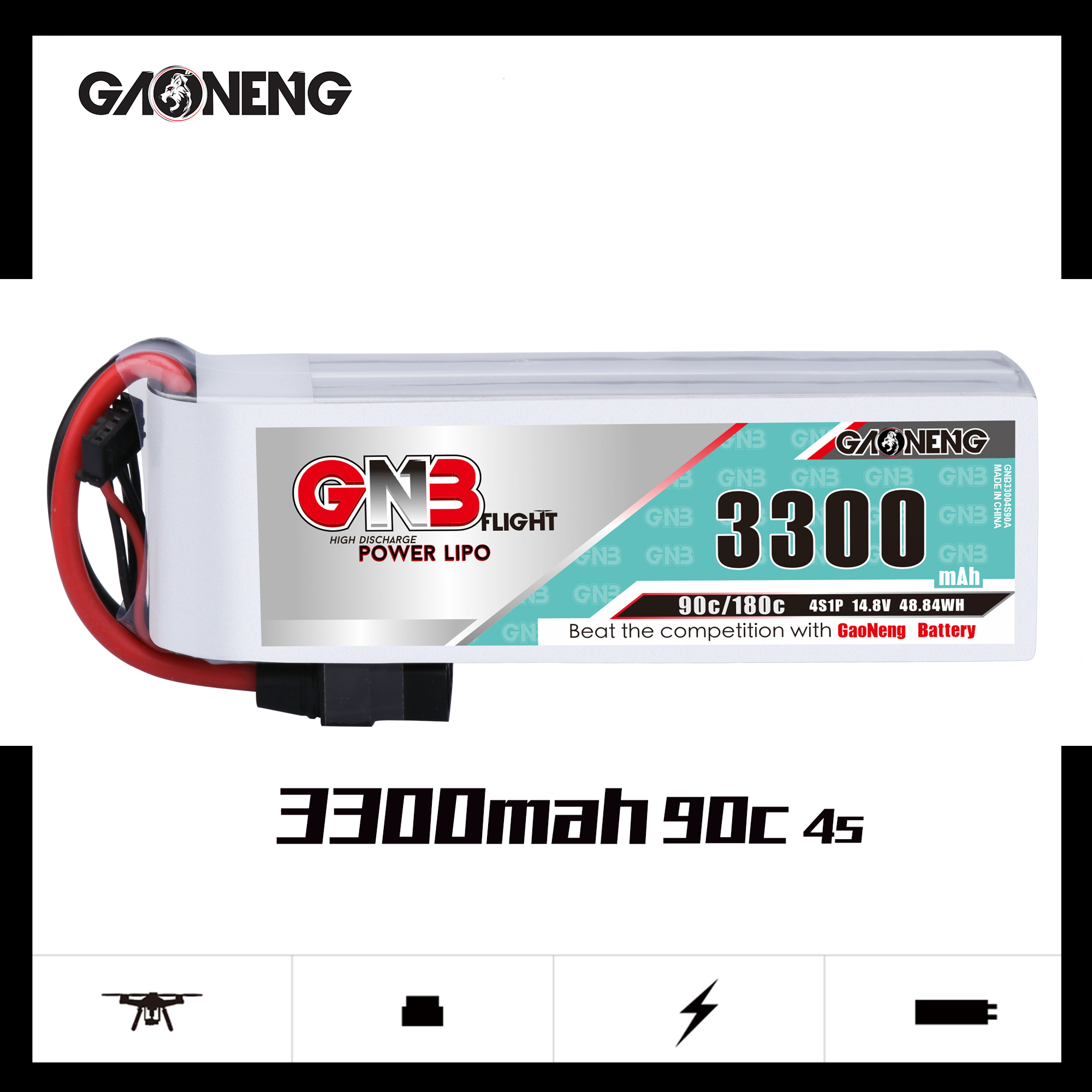 GNB 4S 3300MAH 90C LIPO BATTERY